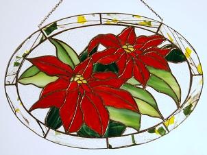 Tiffany Weihnachtsmotive.Tiffany Glaskunst Fensterbilder Blumen